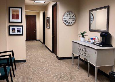 Executive office hallway