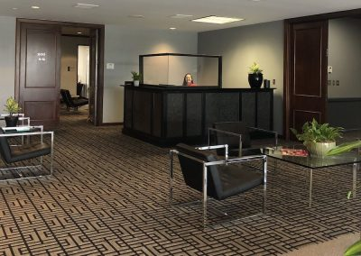 Commercial office space with comfortable waiting areas